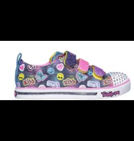 Skechers Quick kicks shimmer dance grijs sneakers meisjes