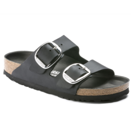 Birkenstock Arizona Big Buckle zwart vetleer narrow sandalen dames (s)