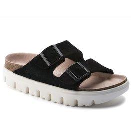 Birkenstock Arizona Chunky suede zwart narrow sandalen dames (s)