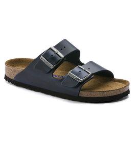 Birkenstock Arizona blauw geolied leer zacht voetbed regular sandalen uni (s)