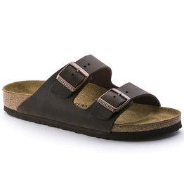 Birkenstock Arizona bruin geolied vetleer narrow sandalen uni (s)