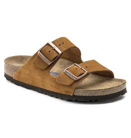 Birkenstock Arizona bruin suède zacht voetbed narrow sandalen uni (s)
