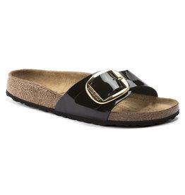 Birkenstock Madrid Big Buckle zwart lak regular sandalen dames (s)