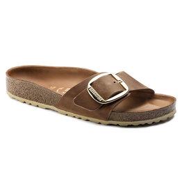 Birkenstock Madrid Big Buckle bruin vetleer narrow sandalen dames