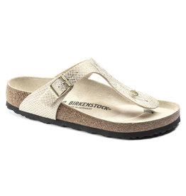 Birkenstock Gizeh Shiny Python wit goud  regular sandalen dames (s)