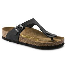 Birkenstock Gizeh zwart vetleer regular sandalen uni (s)