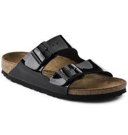 Birkenstock Arizona zwart lak narrow sandalen uni (s)