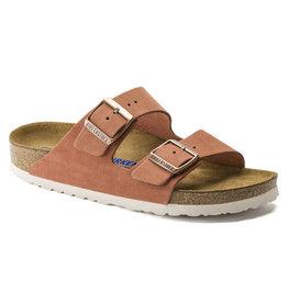 Birkenstock Arizona aarderood  suède zacht voetbed narrow sandalen dames (s)