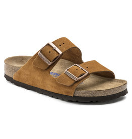 Birkenstock Arizona bruin suède zacht voetbed regular sandalen uni (s)