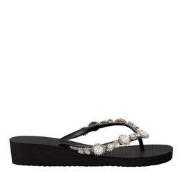 Uzurii Pearl Marilyn Mid zwart slippers dames (s)