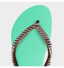 Uzurii Dangerous groen slippers dames (s)