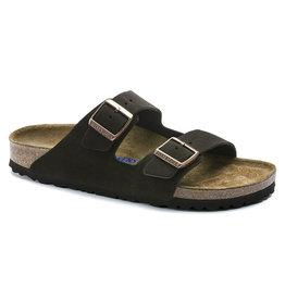 Birkenstock Arizona donkerbruin suède zacht voetbed regular sandalen uni (s)