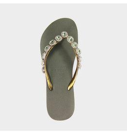 Uzurii Beatrix groen slippers dames (s)