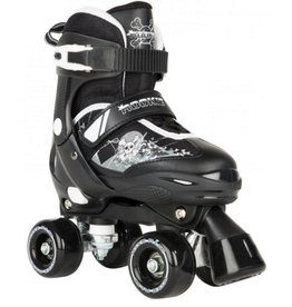 Rookie Adjustable Skate Pulse Junior zwart rolschaatsen kids