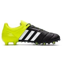Adidas Ace 15.1 FG/AG Leather zwart geel voetbalschoenen heren