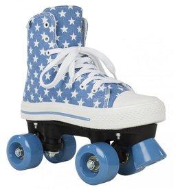 Rookie Canvas high stars blauw rolschaatsen