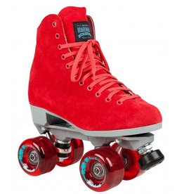 Suregrip Quad Skates Boardwalk rood rolschaatsen dames