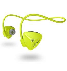 Avanca sportaccessoires D1 draadloze sport headset neon groen uni