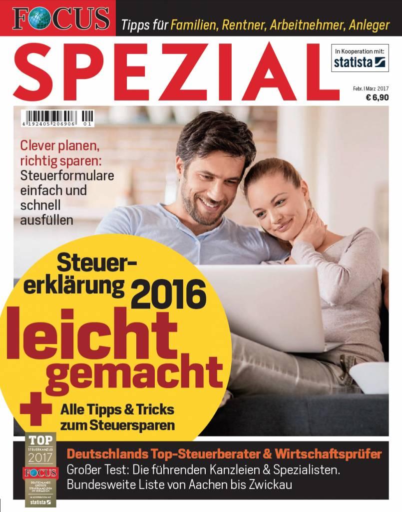 FOCUS FOCUS Spezial - Tipps und Tricks für die Steuererklärung 2016