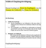 FOCUS Online Vorlage Schlüssel-Übergabeprotokoll