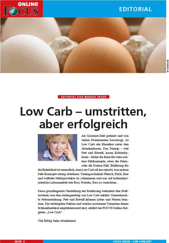 FOCUS Online Einfach schlank: Mit Low-Carb dauerhaft abnehmen