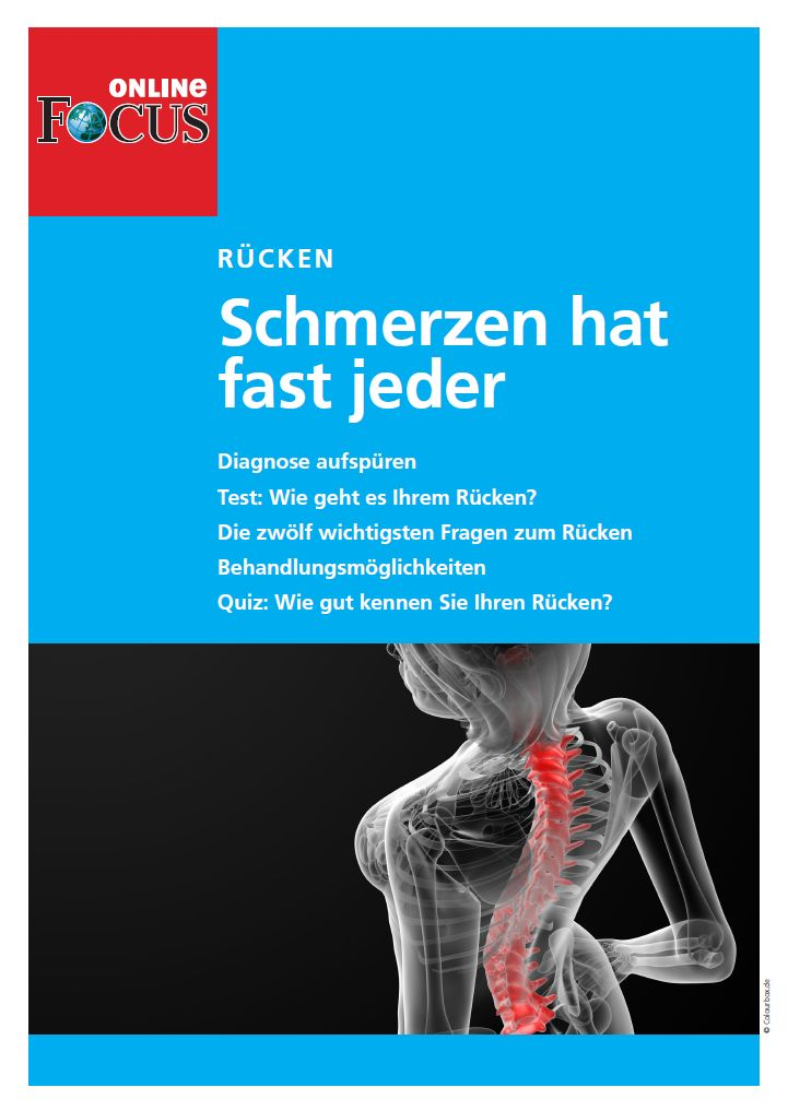 FOCUS Online Rücken - Schmerzen hat fast jeder