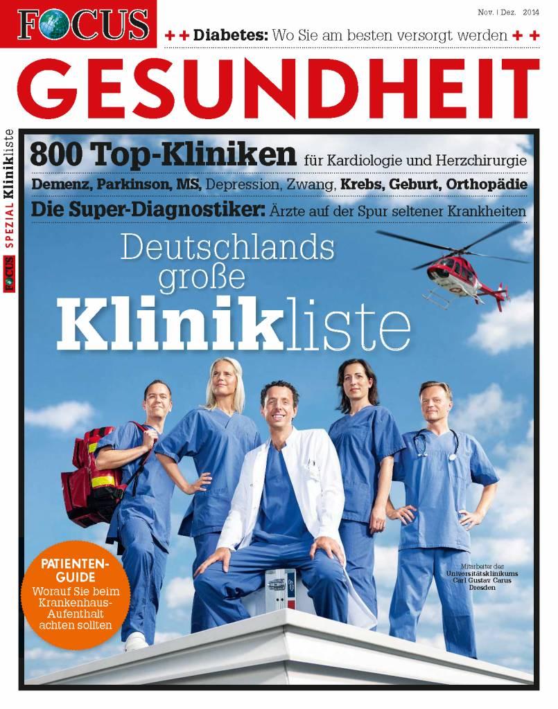 FOCUS-GESUNDHEIT FOCUS Gesundheit - Die besten Kliniken Deutschlands 2015