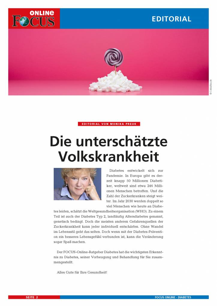 FOCUS Online Diabetes: Die Zuckerkrankheit