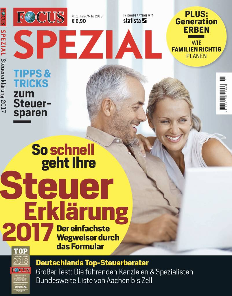FOCUS-SPEZIAL FOCUS Spezial - Tipps und Tricks für die Steuererklärung 2017
