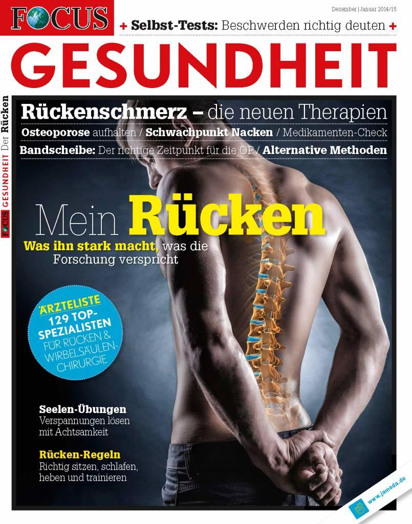 FOCUS-GESUNDHEIT FOCUS Gesundheit - Rückenschmerzen 2014: Die neuen Therapien für einen gesunden und starken Rücken