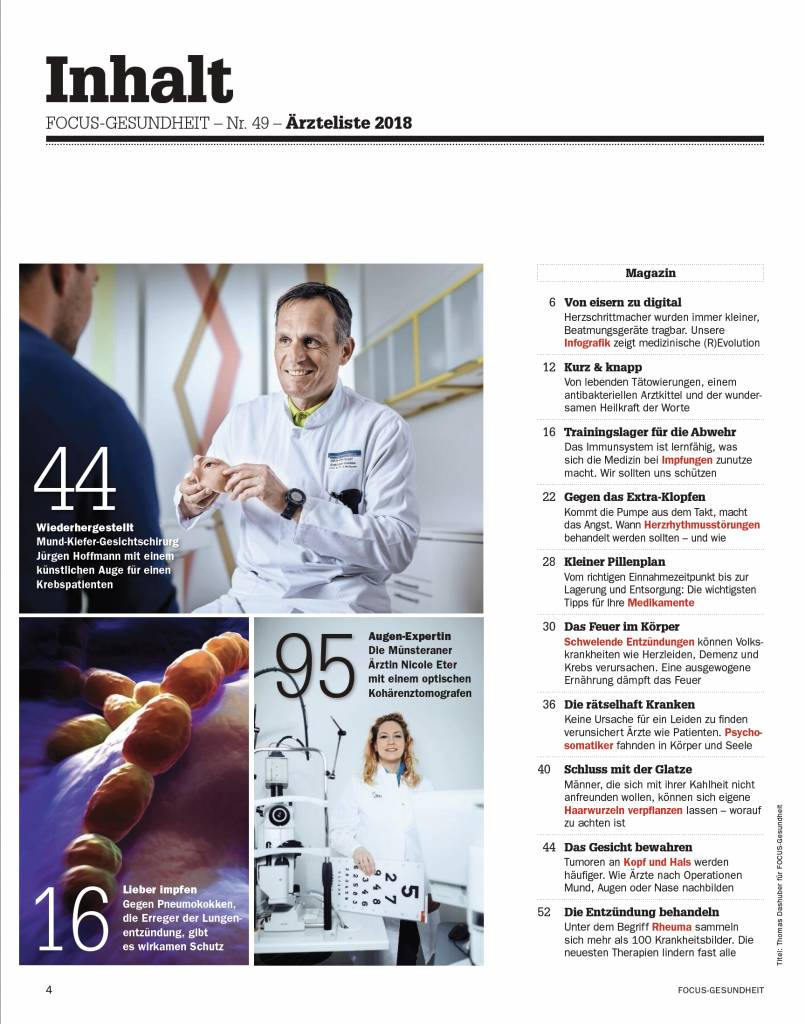 FOCUS  Deutschlands Top-Ärzte 2018