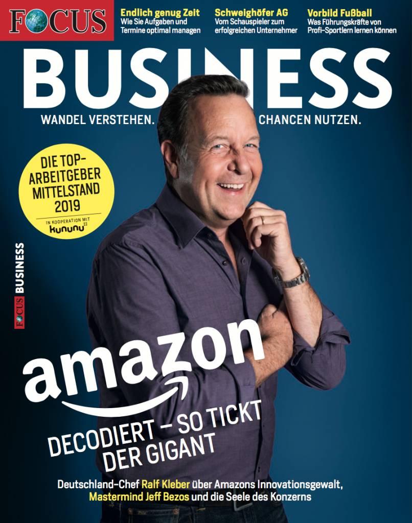 """FOCUS Focus Business """"Amazon decodiert und der Mittelstand 2018"""