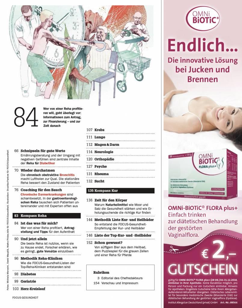 FOCUS-GESUNDHEIT  FOCUS Gesundheit - Die besten Rehakliniken 2019