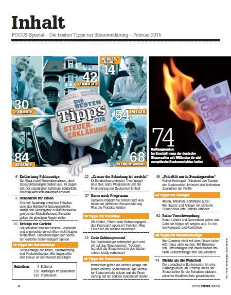 FOCUS-SPEZIAL FOCUS Spezial - Komplette-Anleitung zum Ausfüllen des Steuerformulars