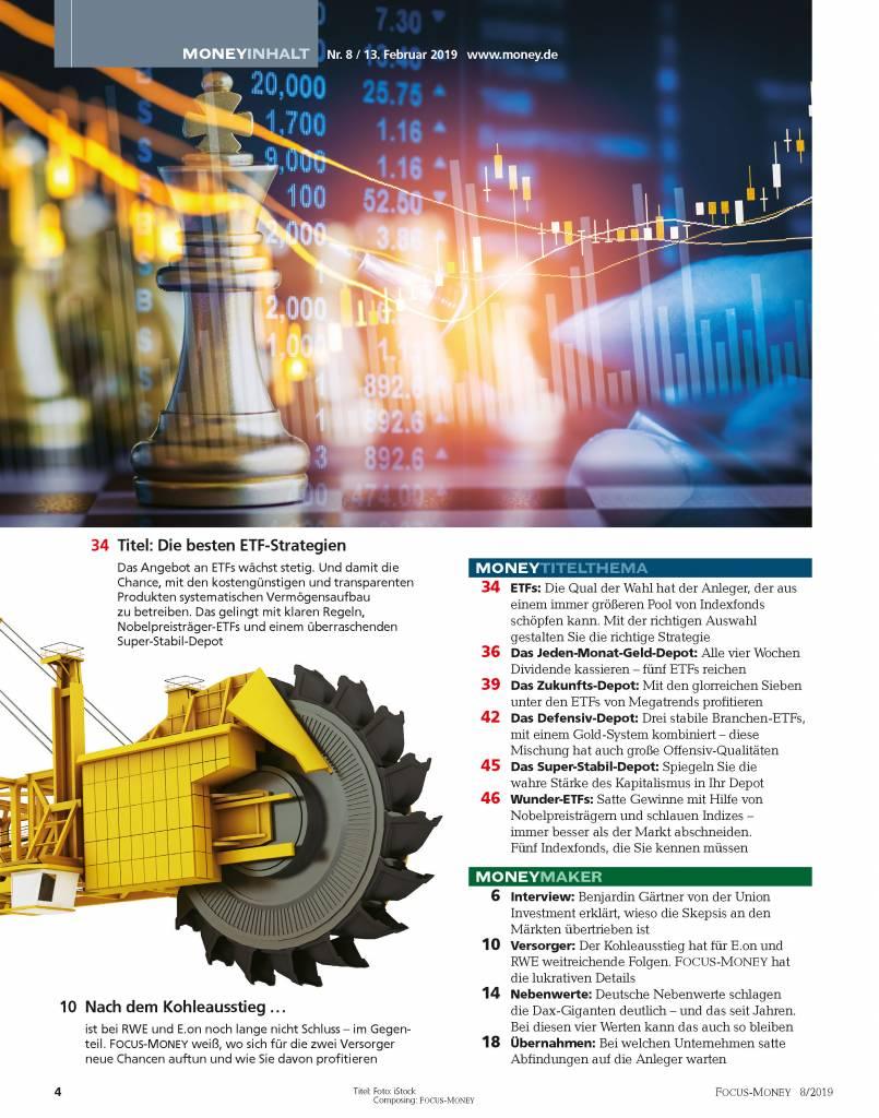 FOCUS-MONEY Focus Money – Die besten ETF-Strategien 2019
