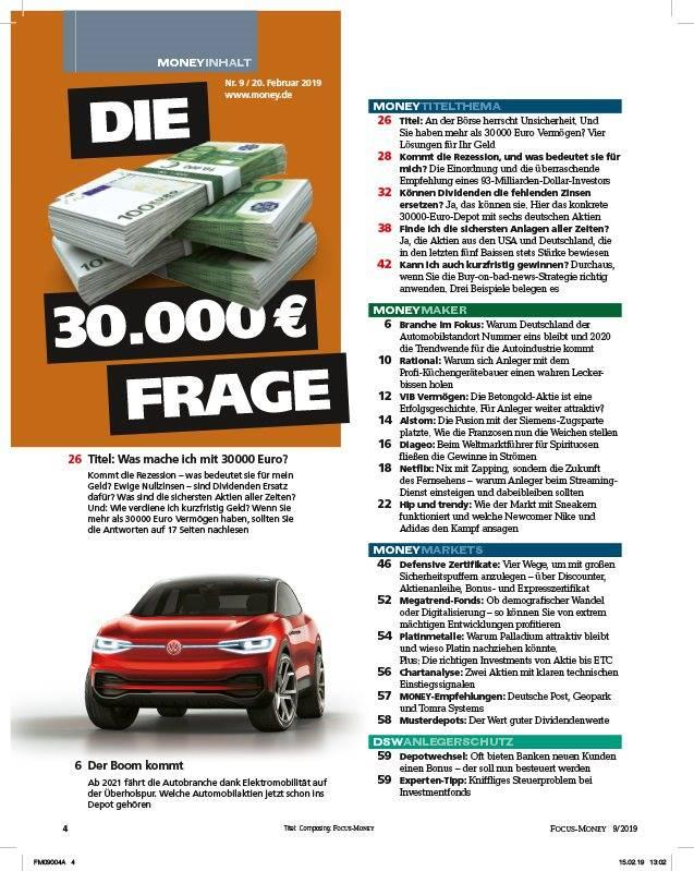 FOCUS FOCUS MONEY – Die sichersten Anlagen aller Zeiten