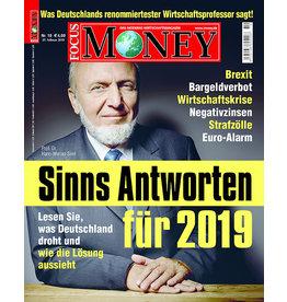 FOCUS-MONEY Sinns Antworten für 2019