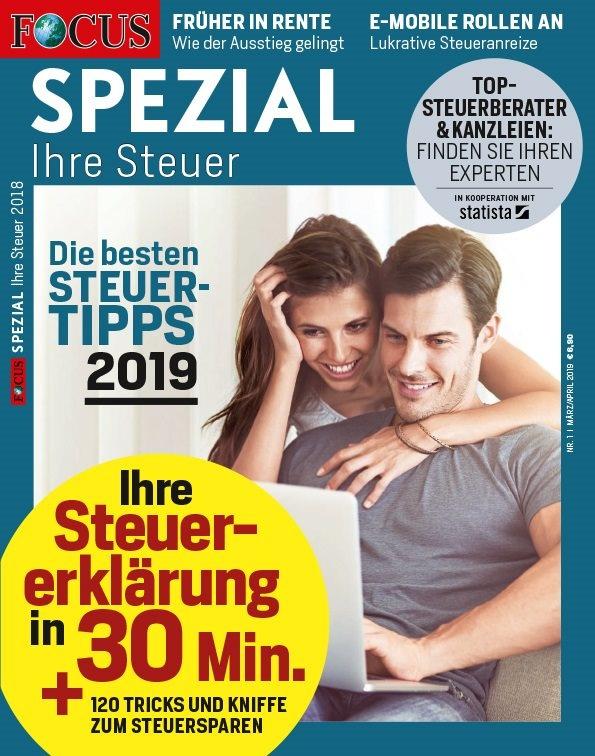 a77d5e64a9331b FOCUS Spezial – Ihre Steuer 2019 - FOCUS Online PDF-Shop