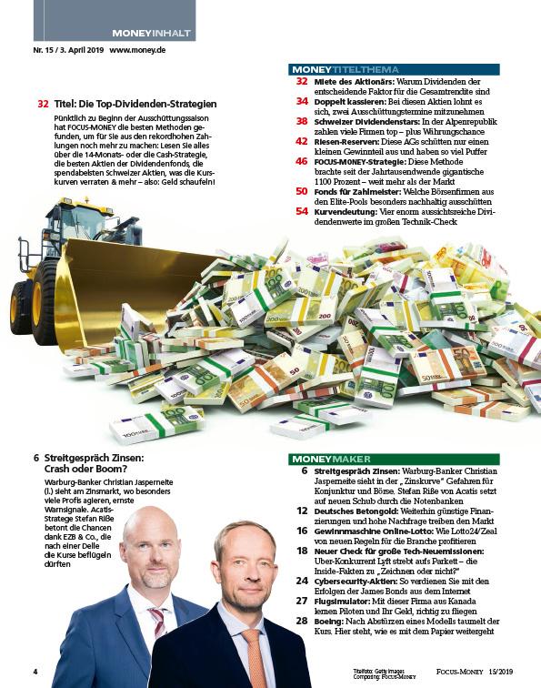 FOCUS-MONEY FOCUS MONEY – Ihre Dividendenstrategie: In 14 Monaten 16% kassieren