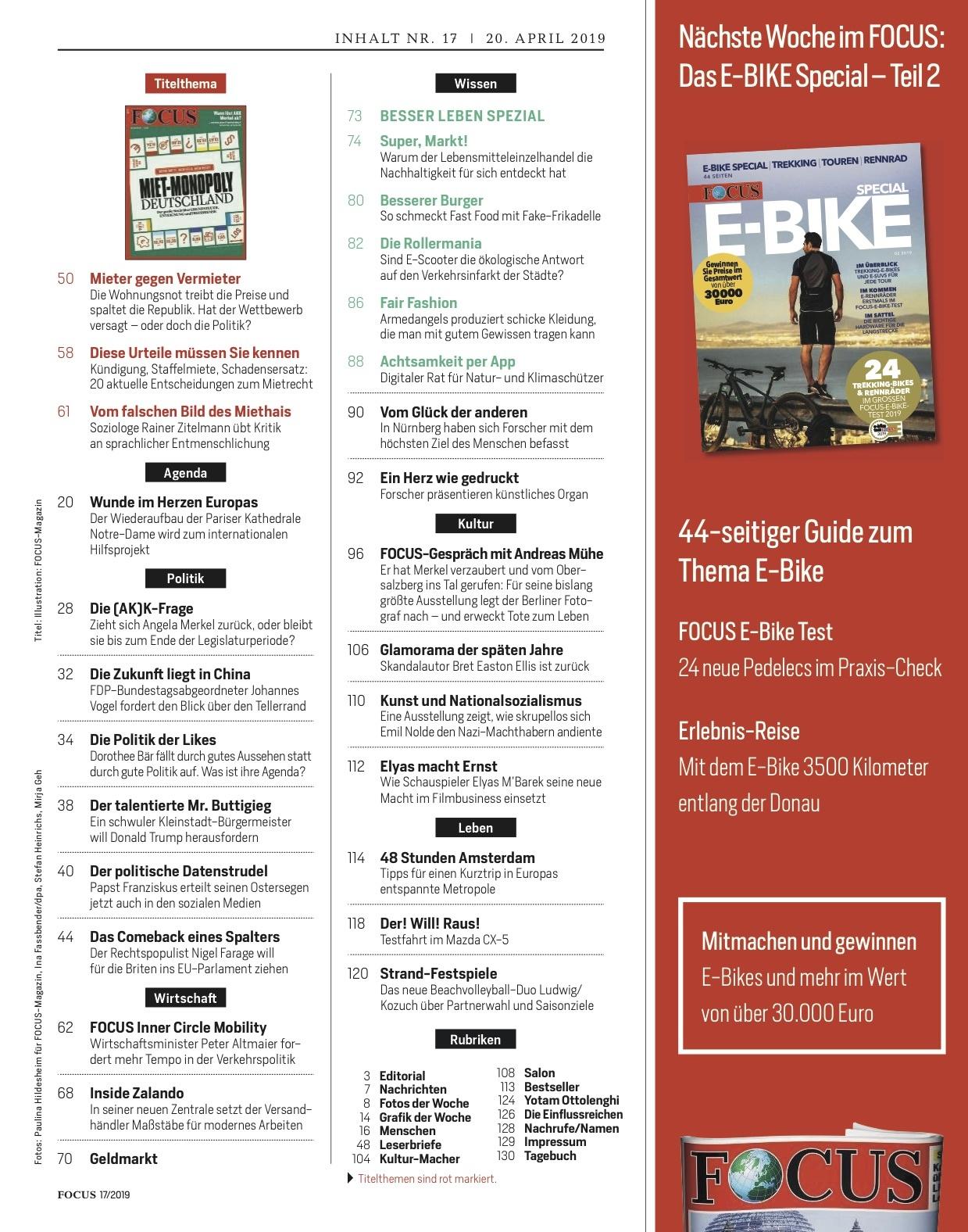 FOCUS Magazin FOCUS Magazin - Miet-Monopoly Deutschland