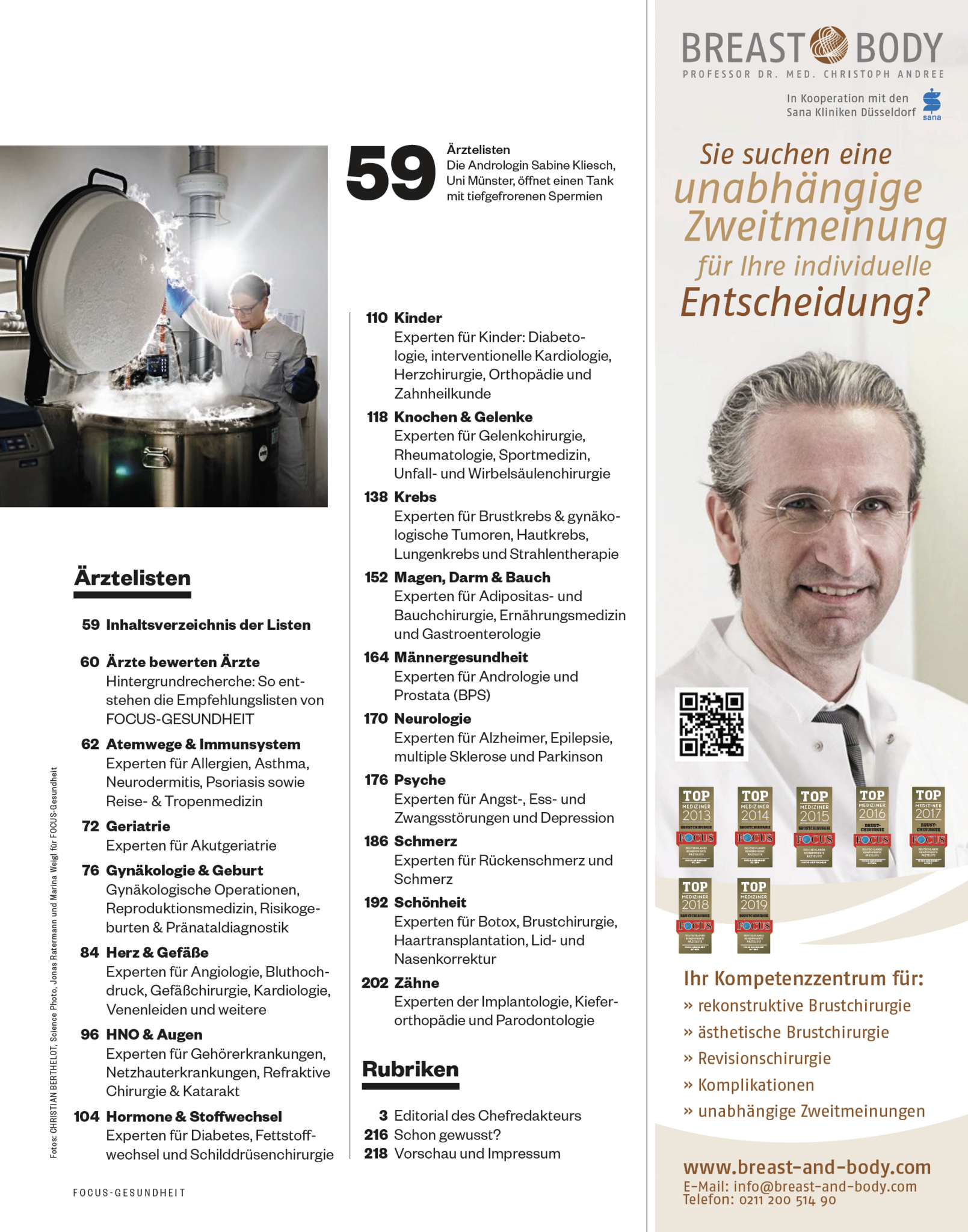 FOCUS-GESUNDHEIT FOCUS Gesundheit  - Die besten Ärzte 2019