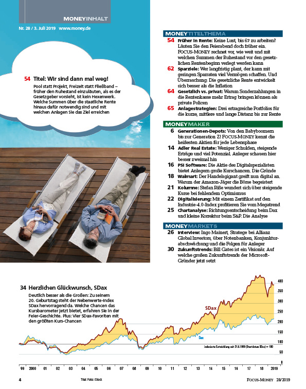 FOCUS-MONEY FOCUS MONEY – Früher in Rente: Wie der Vorruhestand finanziell gelingt