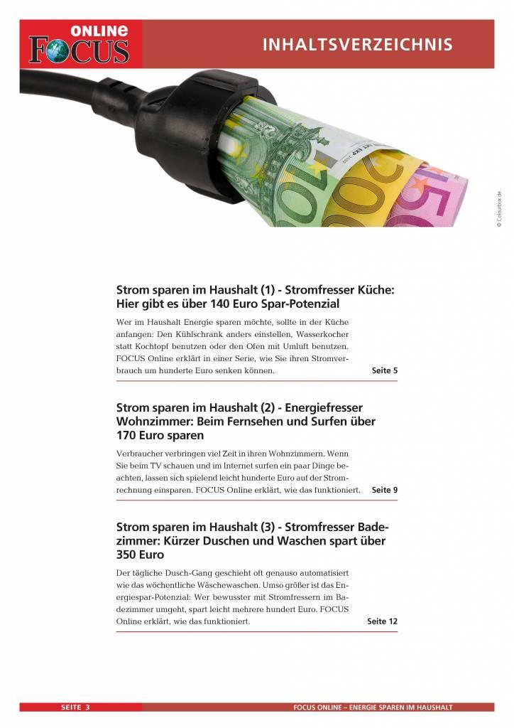 FOCUS Online Energiesparen im Haushalt