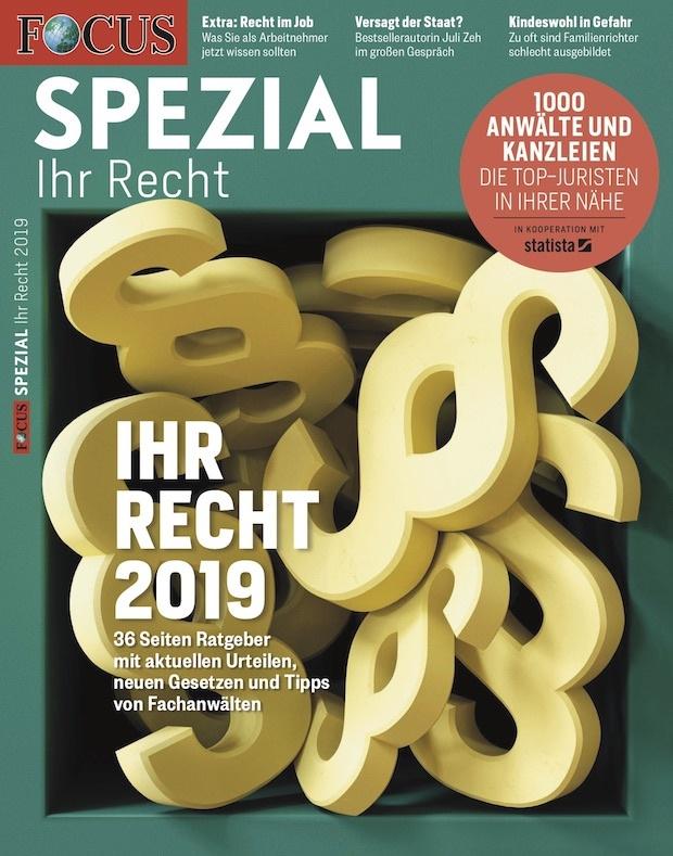 FOCUS-SPEZIAL  FOCUS Spezial - Ihr Recht 2019