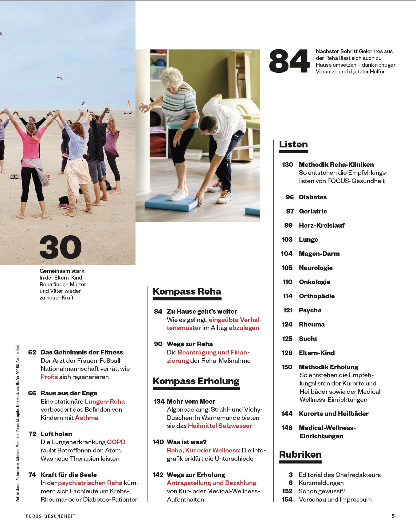 FOCUS-GESUNDHEIT FOCUS Gesundheit - Die Top-Rehakliniken 2020