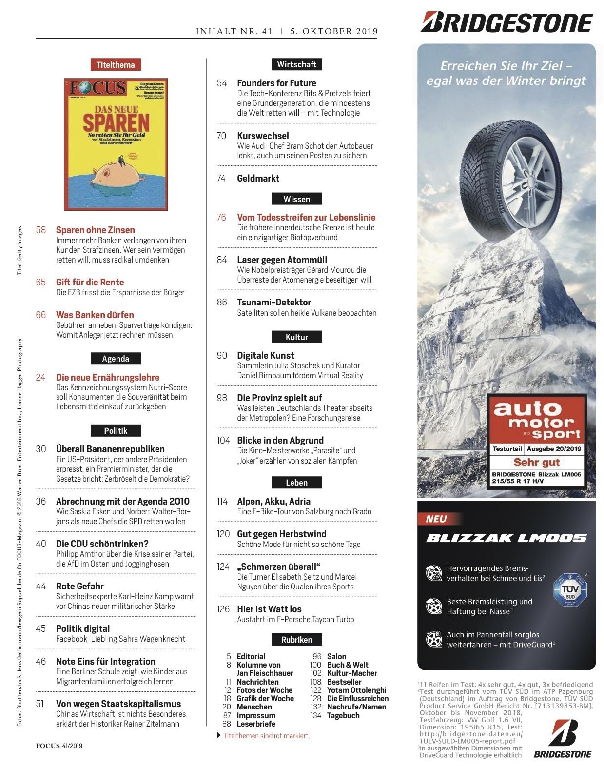 FOCUS Magazin FOCUS Magazin - Das neue Sparen