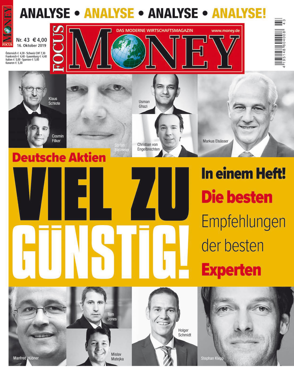 FOCUS-MONEY FOCUS Money – Deutsche Aktien – viel zu günstig!