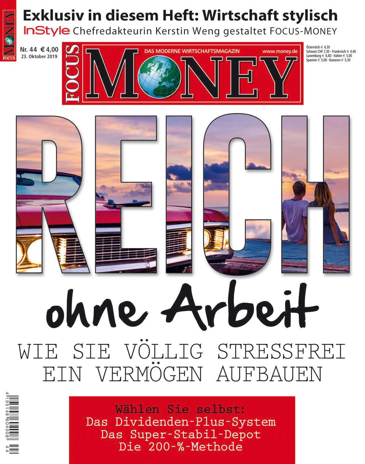 FOCUS-MONEY FOCUS MONEY -  Reich ohne Arbeit – Wie Sie stressfrei ein Vermögen aufbauen