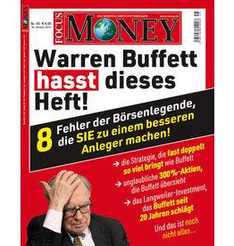 FOCUS-MONEY Warren Buffett hasst dieses Heft! Was Anleger aus den Fehlern der Investment-Legende lernen können.