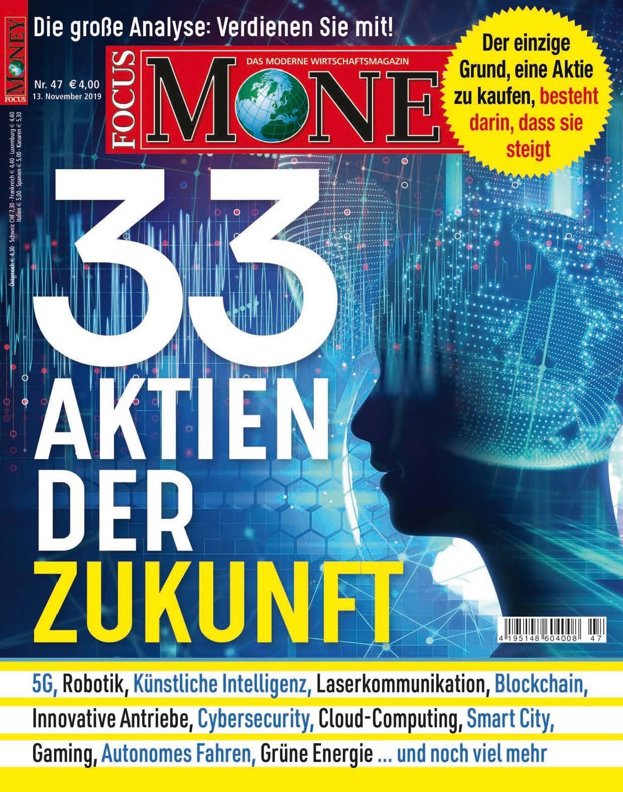 FOCUS-MONEY FOCUS Money – 33 Aktien der Zukunft